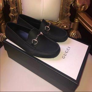Authentic men gucci black loafers